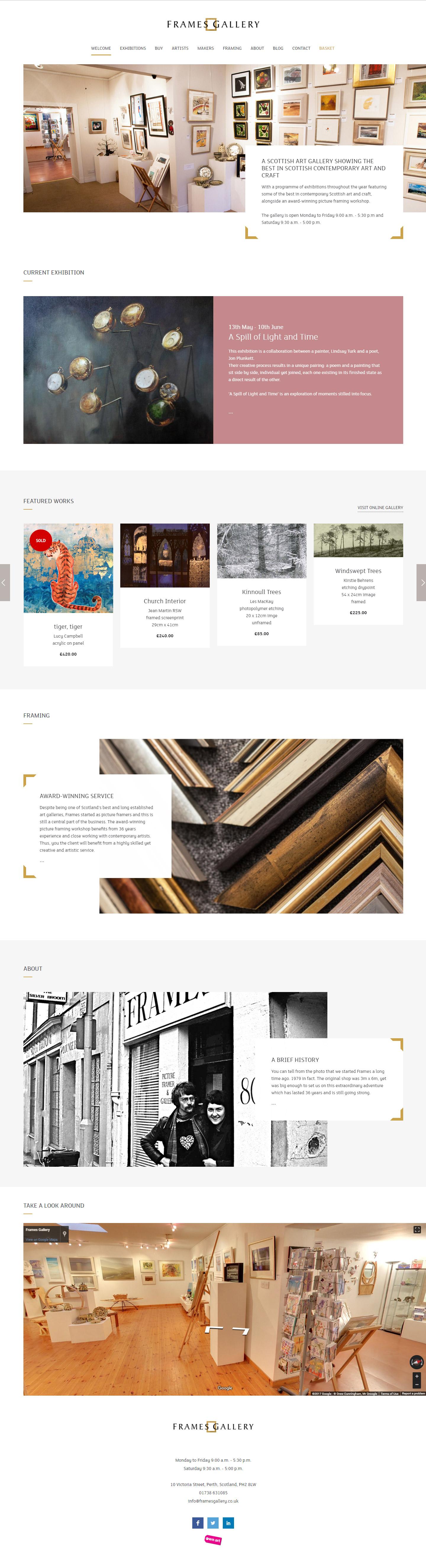 Frames Gallery Homepage
