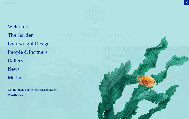 Pearlfisher Garden Microsite Nav
