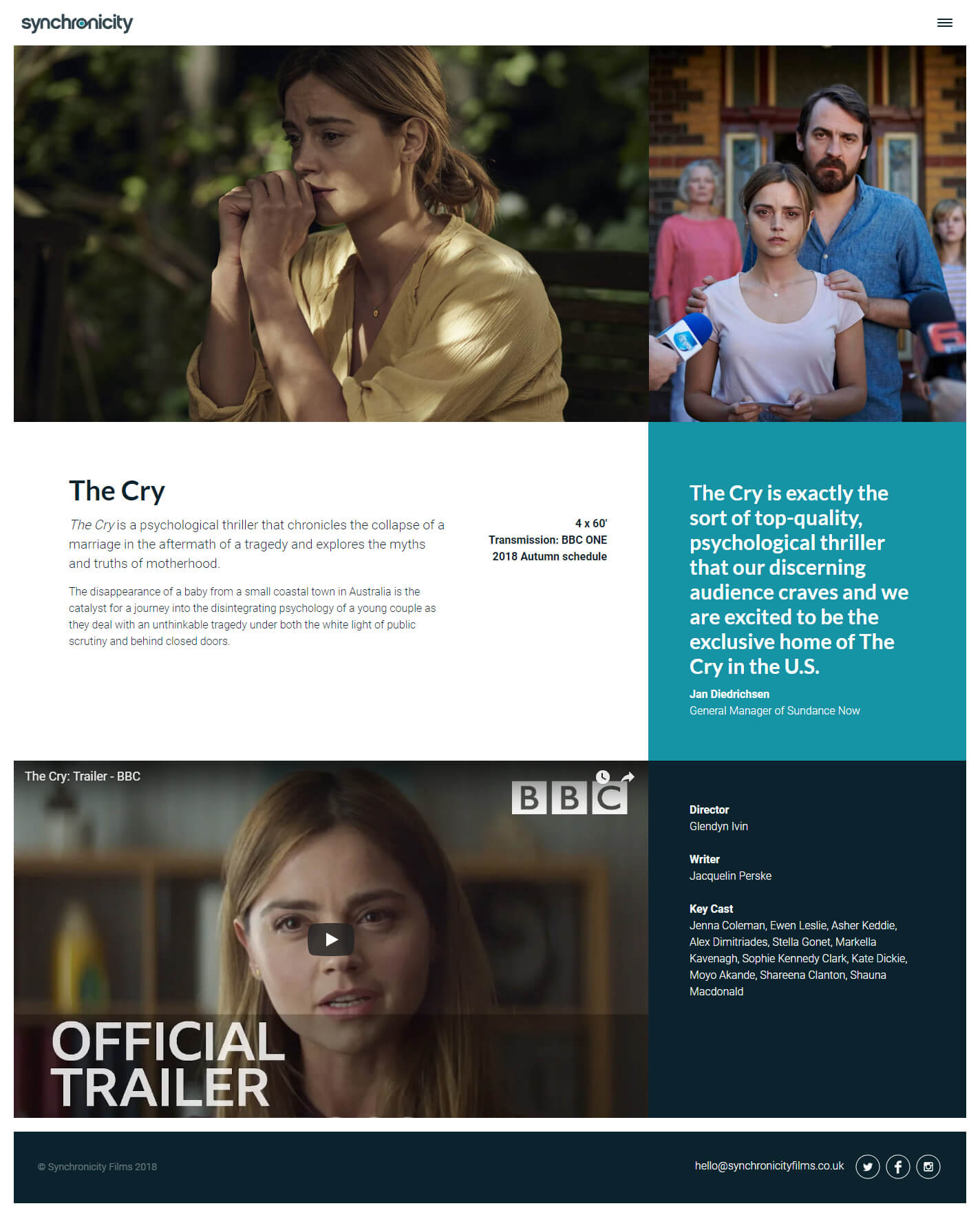 Synchronicity Films The Cry