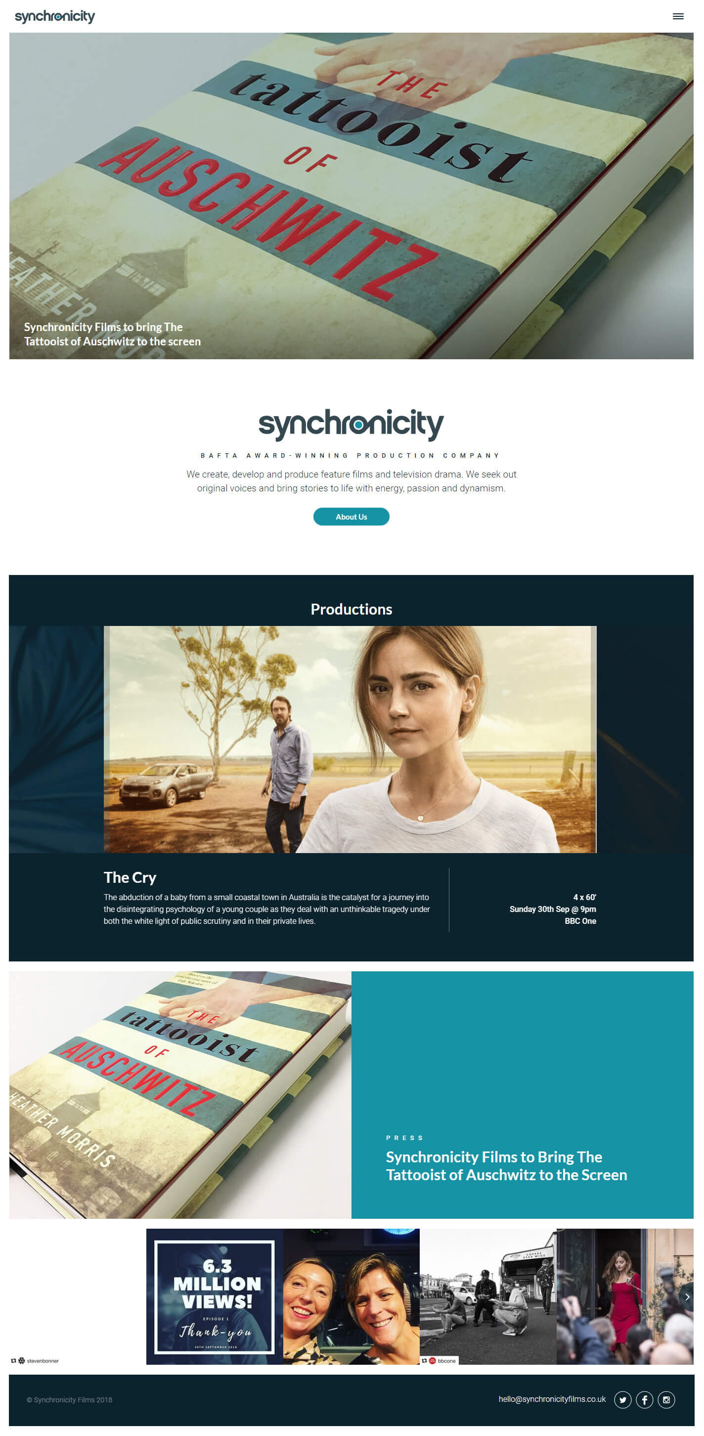 Synchronicity Films Homepage