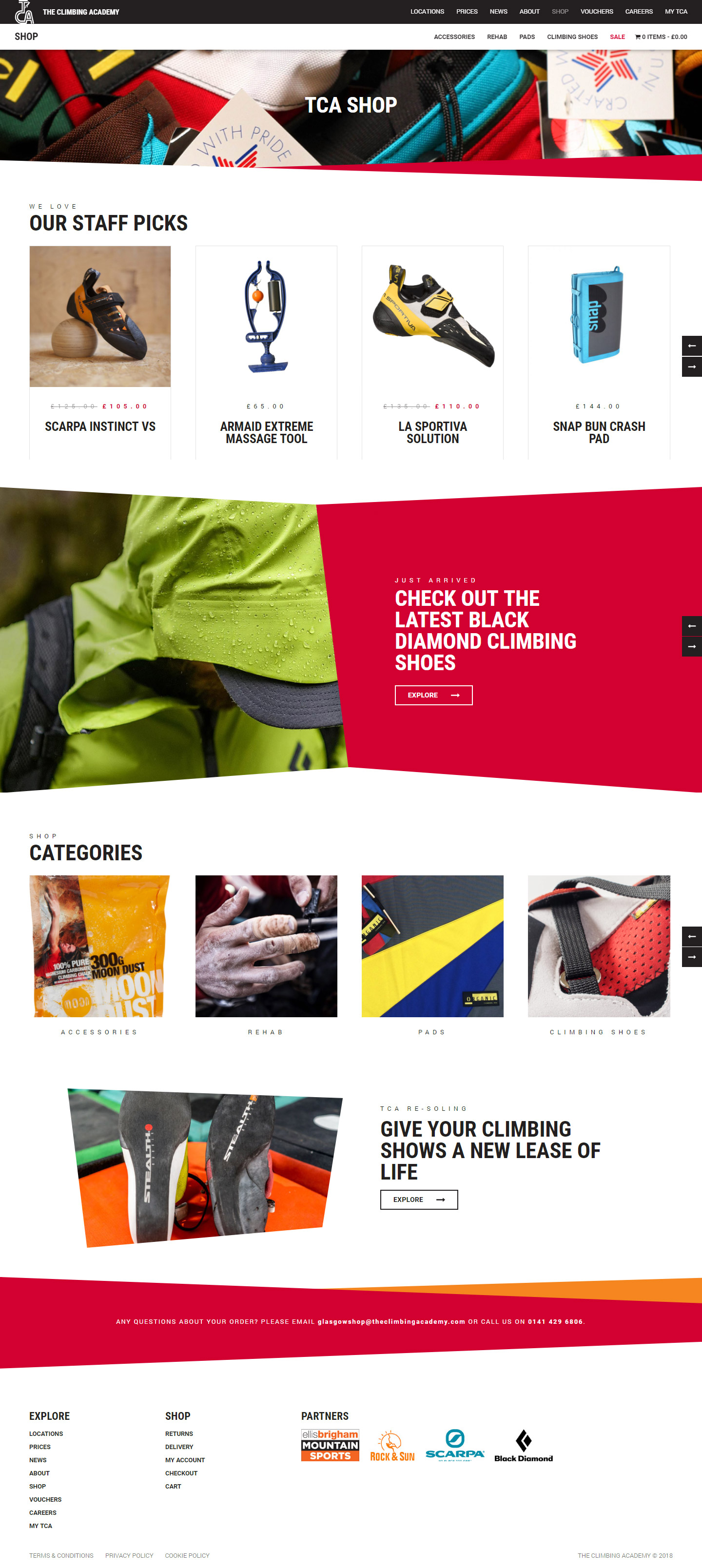 The Climbing Academy Shop